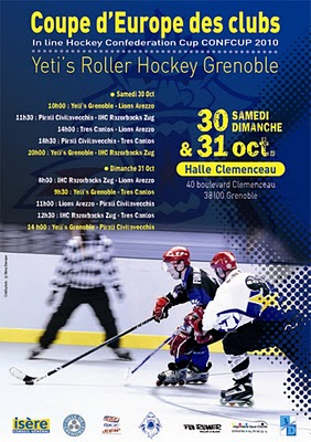 Roller-Hockey Coupe d'Europe, ce week-end à la Halle Clémenceau