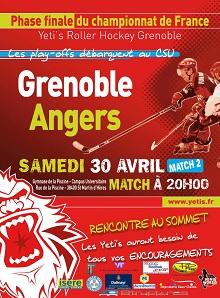 Roller-hockey ¼ de finale (match retour) : Grenoble – Angers, présentation