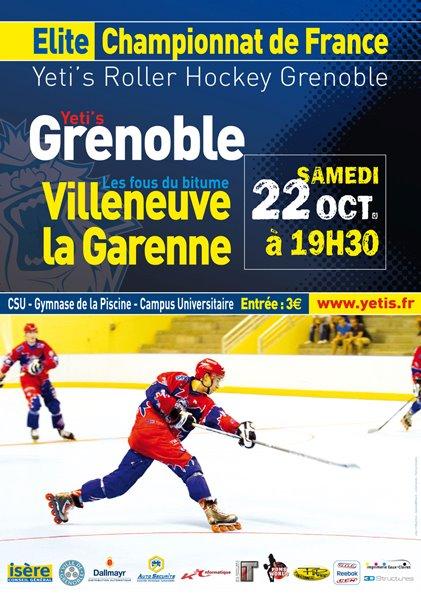 Roller-hockey Ligue Élite : Grenoble – Villeneuve, présentation