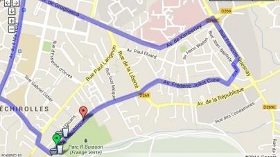 10km d'Echirolles 2014 : le parcours