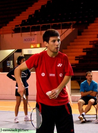 Badminton – England International : Colin Kerouanton en quart