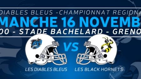 Foot Américain – Diables Bleus – Black Hornets ce dimanche à Bachelard