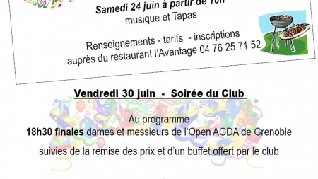 Grenoble Tennis : un mois de juin festif