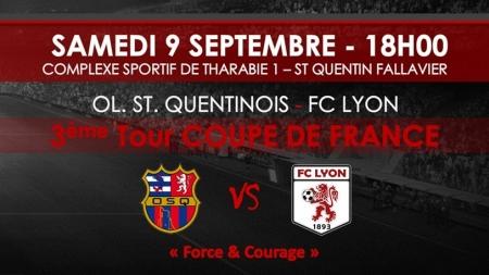 Pas d'exploit pour l'Olympique Saint-Quentinois face au FC Lyon