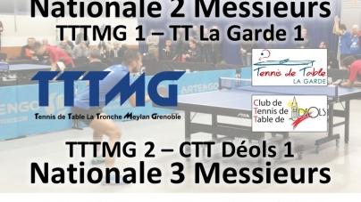 Tennis de Table – Rencontres de niveau national à La Tronche ce samedi