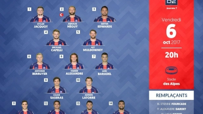 FC Grenoble : la composition face au RC Narbonne