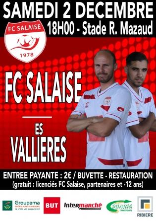 #Communiqué –  Le FC Salaise accueille le leader