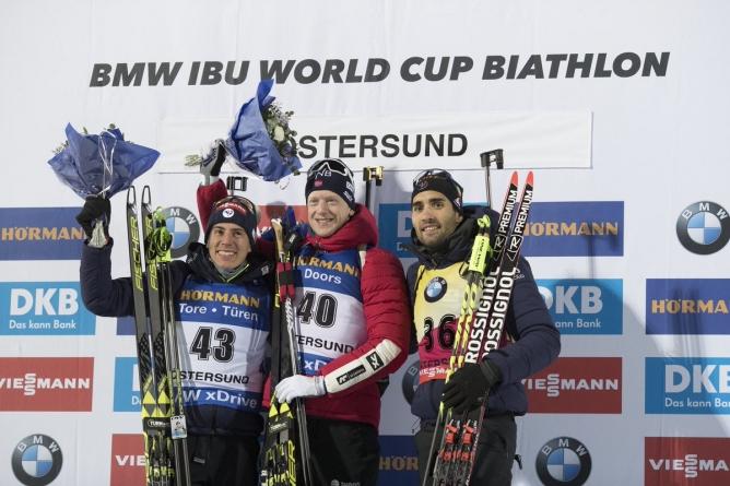Biathlon : Premier podium de l'hiver pour Martin Fourcade