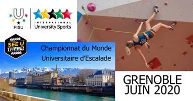#Communiqué – Grenoble accueillera le Mondial Universitaire d'escalade en 2020