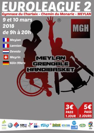 #Communiqué – Le Meylan Grenoble Handibasket organise son Euroleague 2