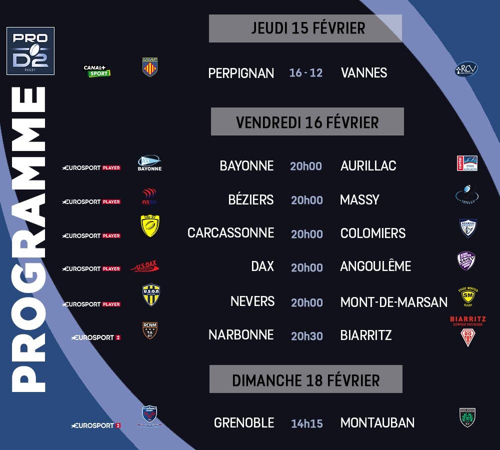 Pro D2 – Le programme de la 23e journée de Pro D2