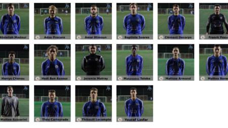 Trombinoscope : les U19 du FC Échirolles (2017-2018)