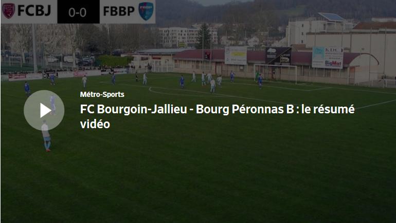 FC Bourgoin-Jallieu – Bourg Péronnas : le résumé vidéo