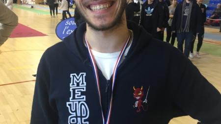 Vervoitte, le sabreur meylanais vainqueur du circuit national Elite de Bourges