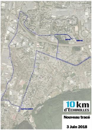Découvrez le nouveau parcours des 10km d'Echirolles