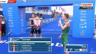 Triathlon WTS Abu Dhabi – Léo Bergère impressionnant, au pied du podium