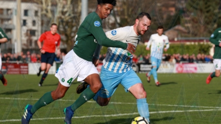 FC Bourgoin-Jallieu : le groupe contre Vaulx-en-Velin