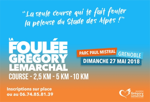 La Foulée Grégory Lemarchal aura lieu le 27 mai à Grenoble
