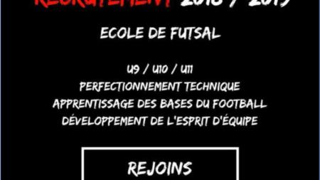 L'Espoir Futsal 38 recrute pour son école de futsal