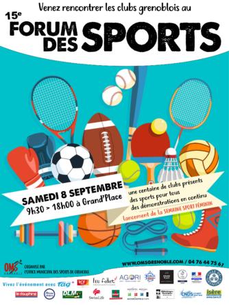 Forum des Sports de Grenoble : rendez-vous le 8 septembre