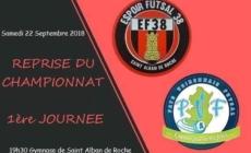 Reprise du championnat pour l'Espoir Futsal 38