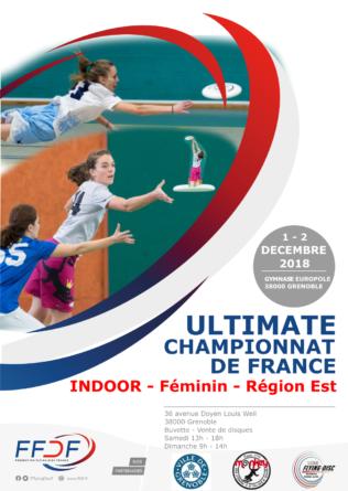 Championnat de France d'ultimate «indoor» féminin ce week-end à Grenoble