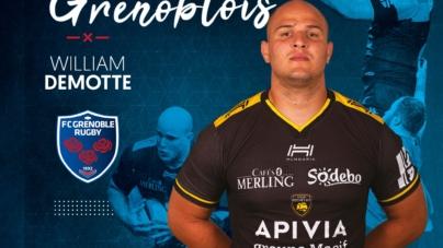 Le 2e ligne William Demotte s'engage avec le FC Grenoble