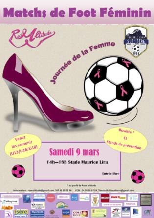 Le FC Sud Isère en soutien de l'association Rose Altitude