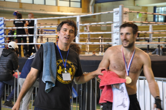 Mathias Solier Brin (Bando GUC) champion de France de kick-boxing