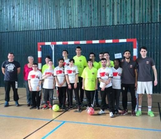 Espoir Futsal 38 a organisé un stage d'initiation auprès de l'Institut Médico Éducatif de Bourgoin-Jallieu