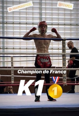 Valentin Bon Mardion champion de France junior 2019 de kick boxing