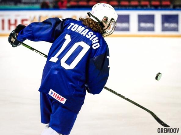 Le Grenoblois Quentin Tomasino buteur décisif avec l'équipe de France U18 de hockey