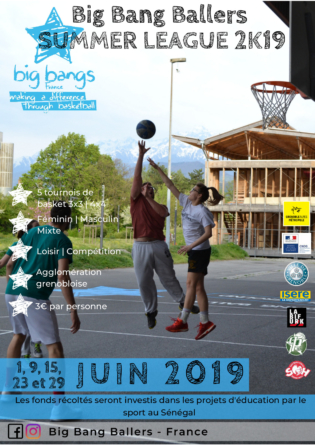 Association Big Bang Ballers – Summer League : des tournois de basketball sur l'agglomération grenobloise tout l'été