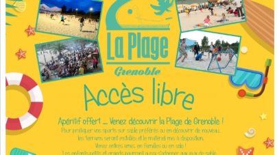 Inauguration de la Plage de Grenoble le 11 juin prochain