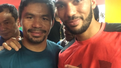 Jaber Zayani s'entraîne avec la légende de la boxe Manny Pacquiao