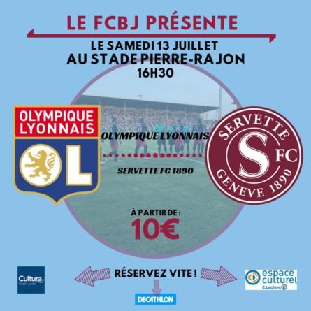 Bourgoin-Jallieu accueillera un match de l'OL cet été