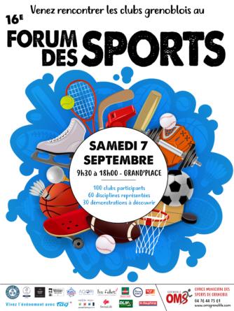 #Communiqué – 16e Forum des Sports de Grenoble le 7 septembre