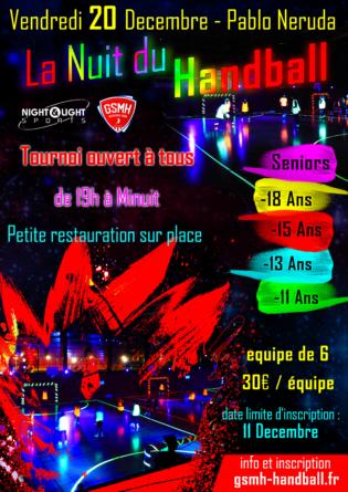 La Nuit du Handball approche, pensez à vous inscrire !