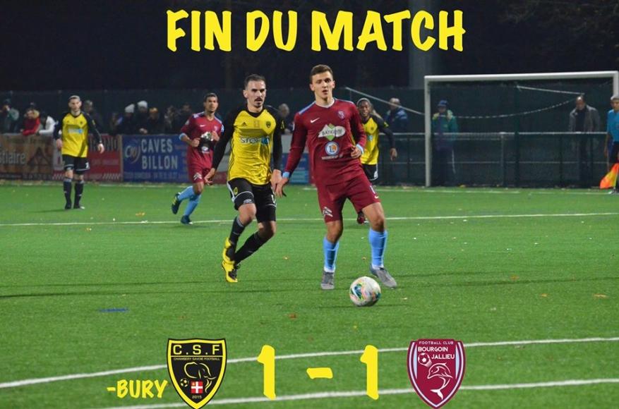 Chambéry – Bourgoin (1-1) : un match nul qui n'arrange personne