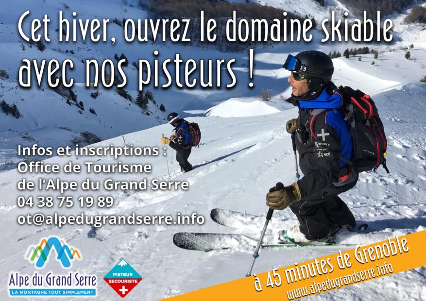 Ouvrez le domaine skiable de l'Alpe du Grand Serre avec les pisteurs de la station