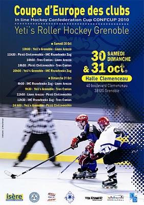 Roller-Hockey Coupe d'Europe, ce week-end à la Halle Clémenceau