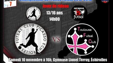 FC Picasso – FC Toulouse, samedi 10 novembre