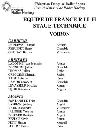 Quatre Yeti's convoqués en équipe de France de roller-hockey
