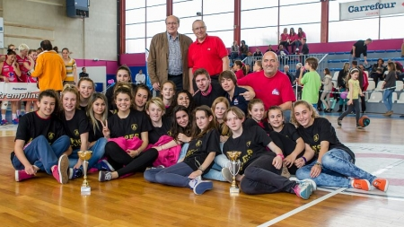 PVBC : remises des coupes de championnes des Alpes aux Benjamines et Cadettes