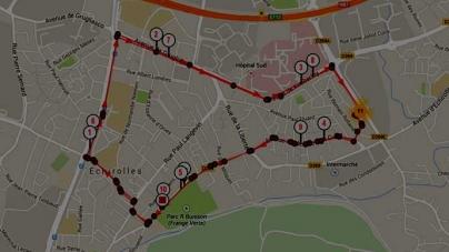 Le parcours des 10 km d'Echirolles