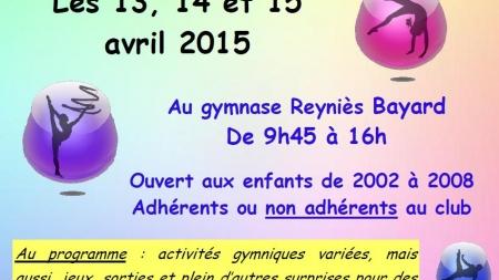 Stage de printemps du Grenoble Gymnastique