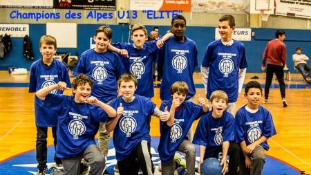 Les U13 du GB38 champions des Alpes