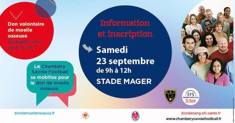 Le Chambéry Savoie Football se mobilise pour le don de moelle osseuse