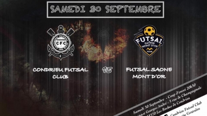 Futsal Saône Mont D'or tenu en échec à Condrieu