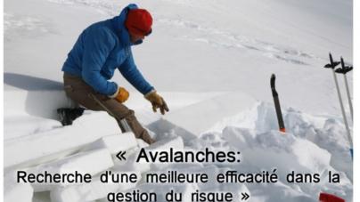 #Communiqué – Conférence sur les avalanches le 22 novembre